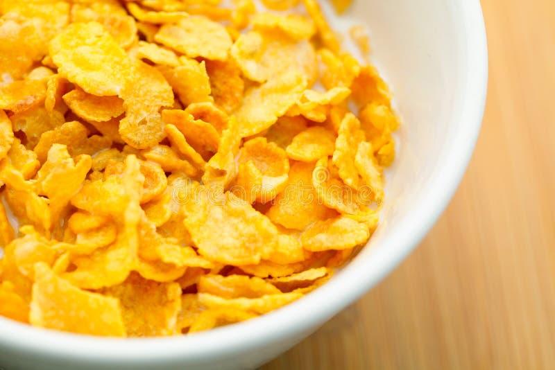 Corn flake close up stock image
