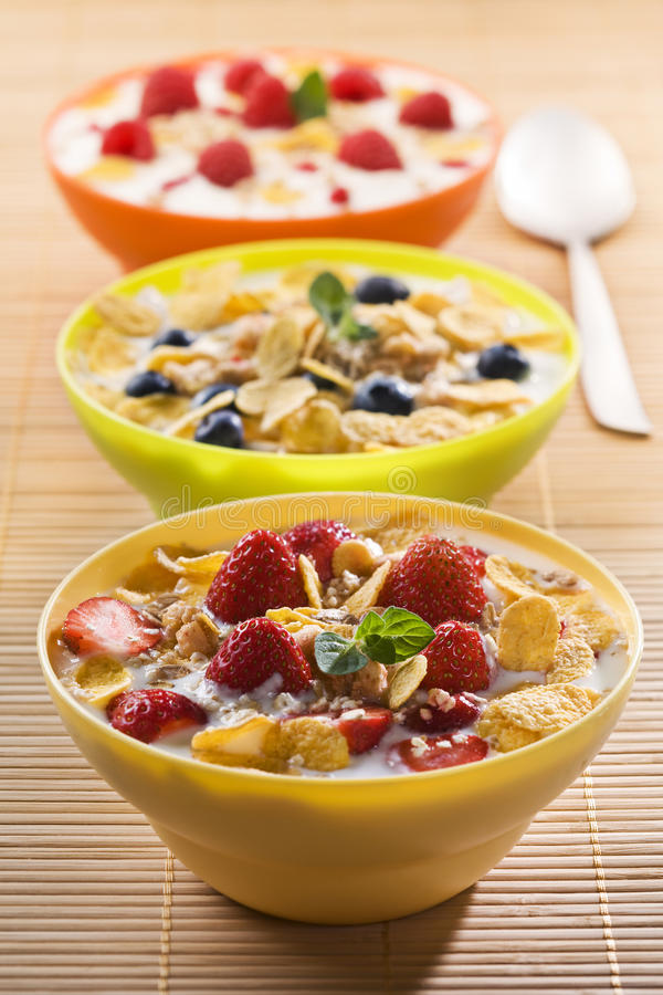 Download Corn flakes stock photo. Image of bowl, nutrition, milk - 19822800