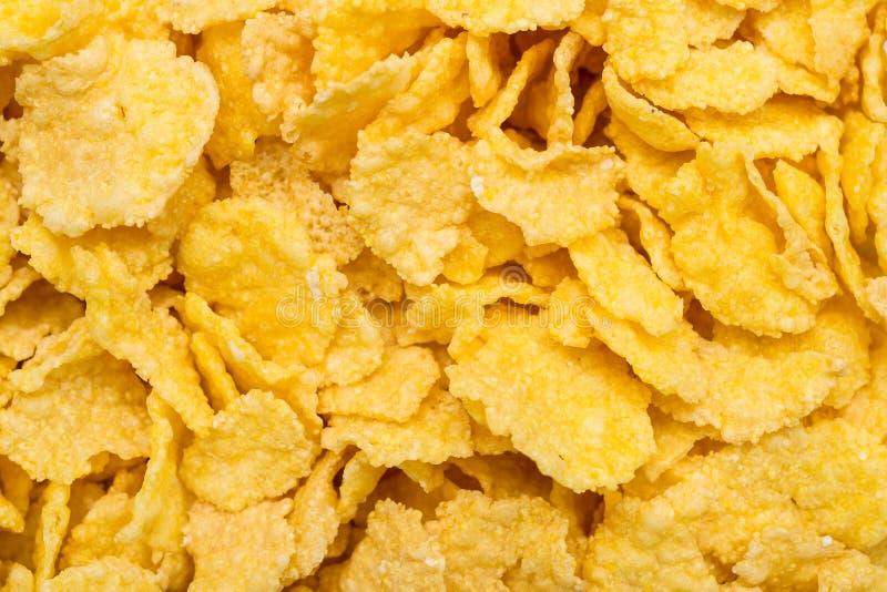 Corn Flakes. Closeup Photo Of Some Tasty Corn Flakes stock images