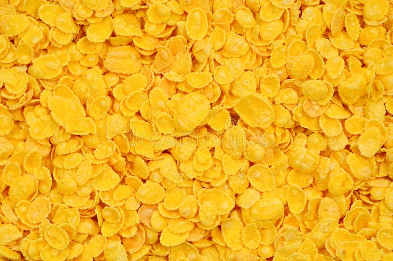 Corn-flakes background and texture. Top view. cornflake cereal b stock photo