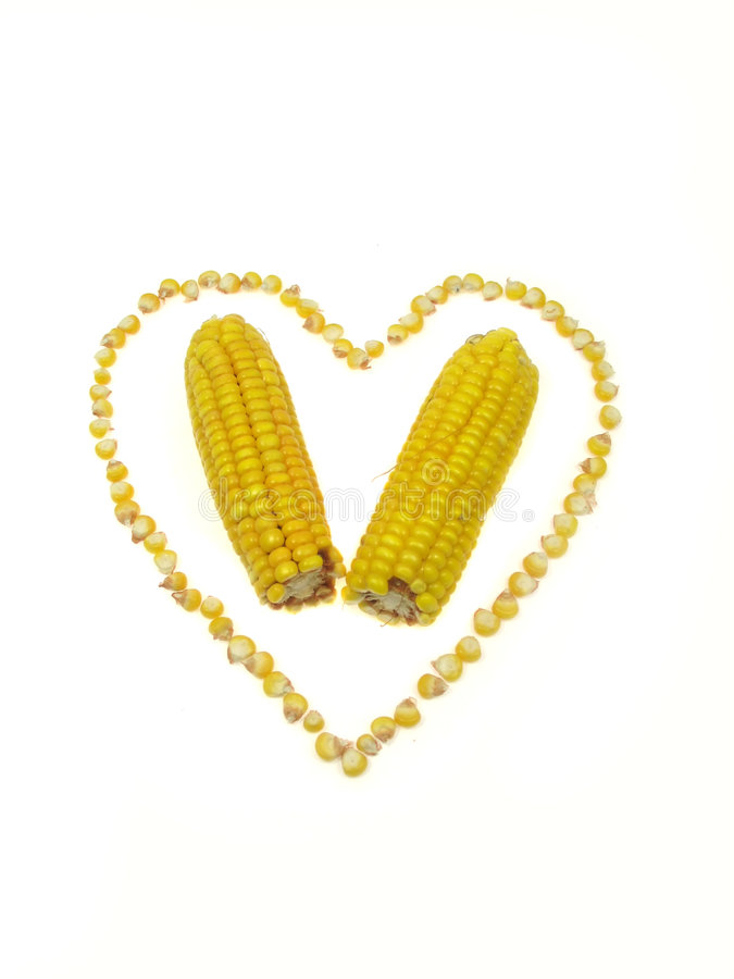 Free Corn Heart Royalty Free Stock Images - 3205229
