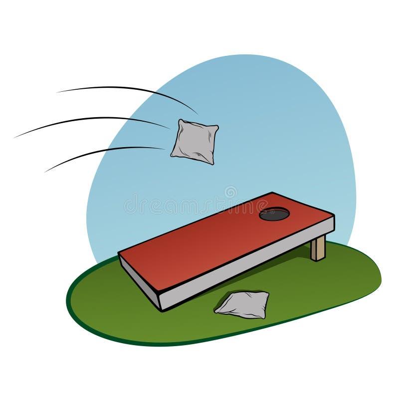 corn hole game stock vector illustration of bags backyard 49803122 rh dreamstime com