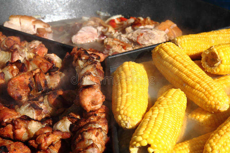 Corn and meat