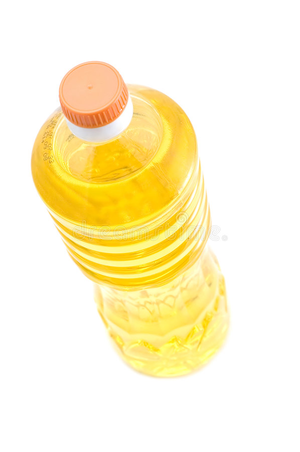 Corn oil on white royalty free stock photography