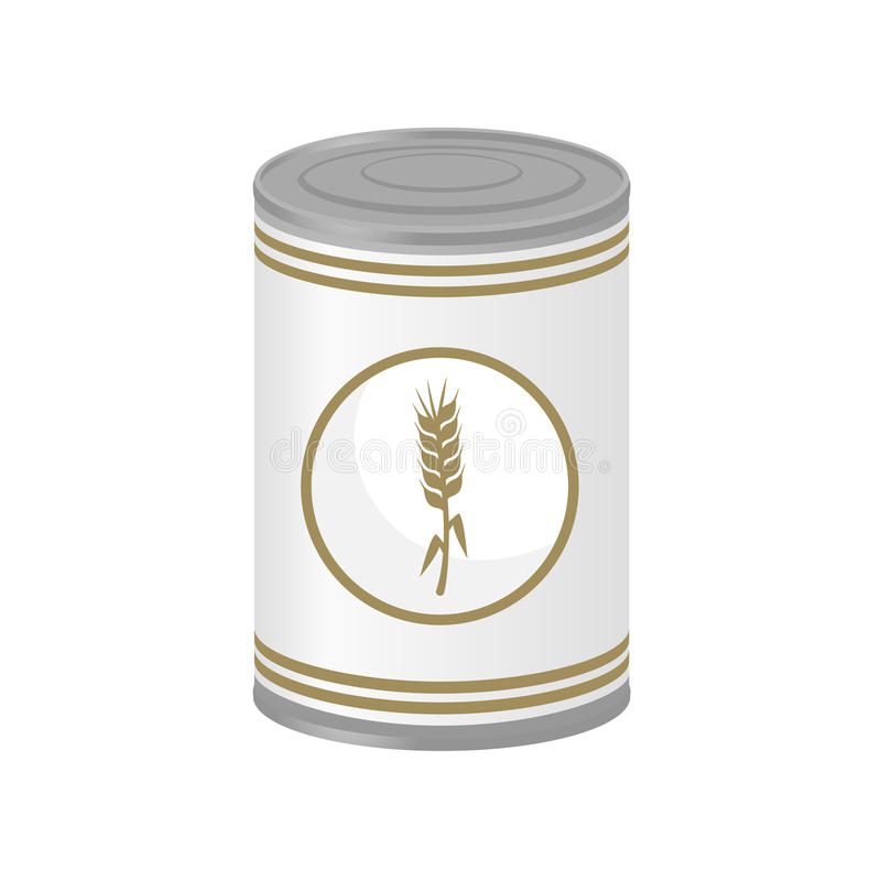 Download Corn in preserved can stock vector. Image of object, isolated - 83718246