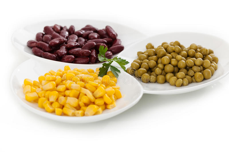 Corn, red bean and peas royalty free stock image