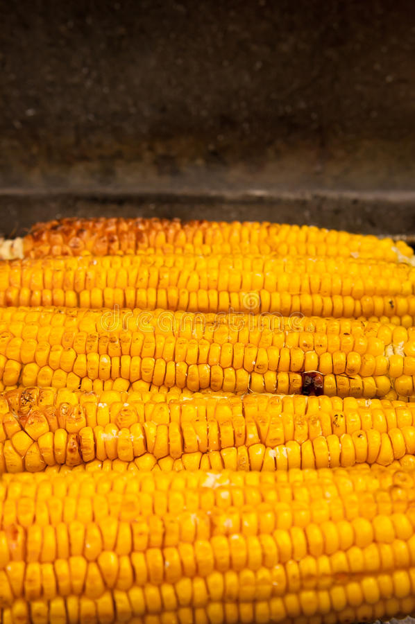 Download Corn with salt on BBQ stock image. Image of board, maize - 26630793