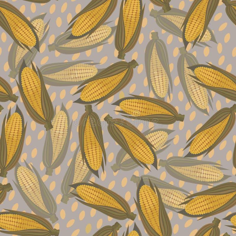 Corn seamless pattern vector illustration