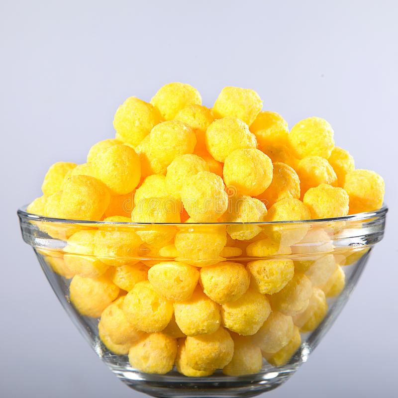 Corn snack. With cheese flavor royalty free stock photography
