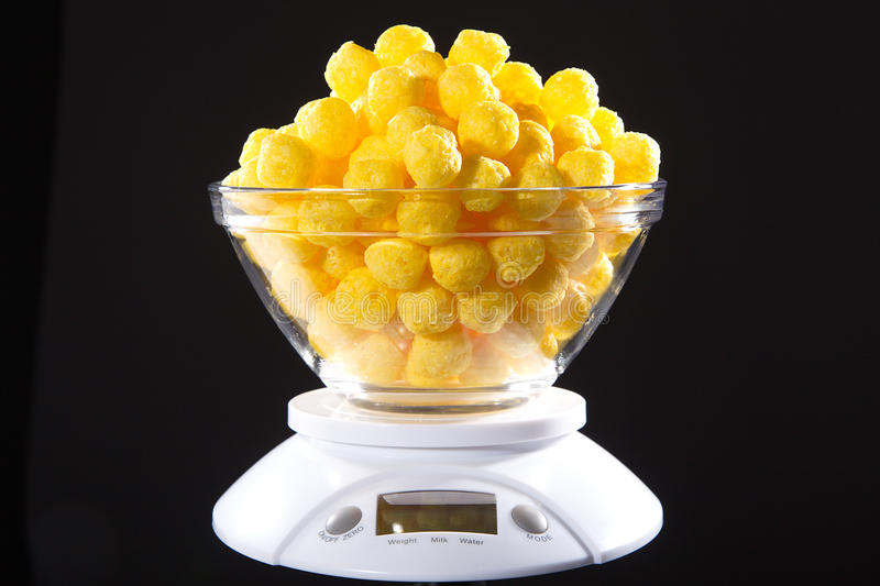 Corn snack. With cheese flavor royalty free stock images