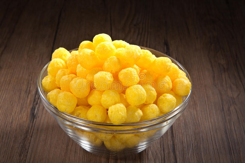 Corn snack. With cheese flavor stock photos