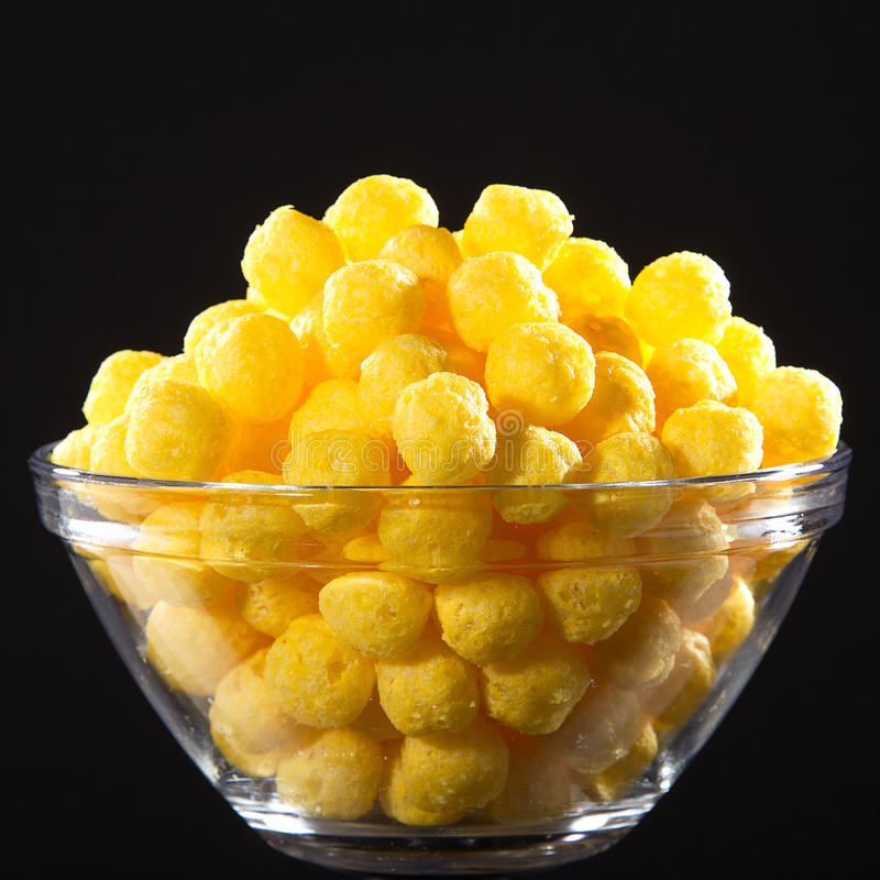 Corn snack. With cheese flavor stock photo