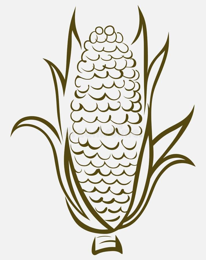 Corn symbol. Vector. Doodle style vector illustration