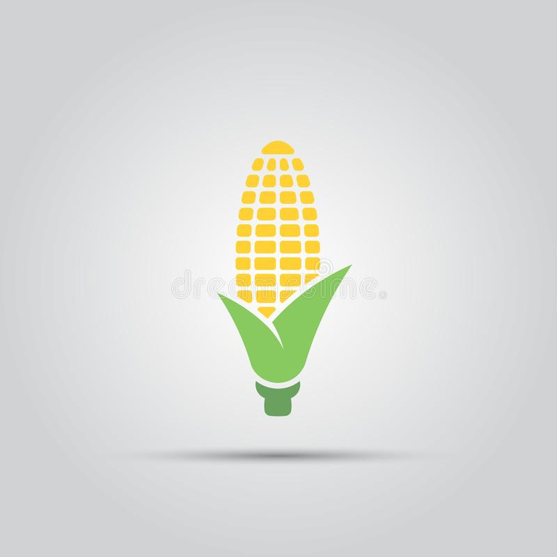Corn vector icon. Corn isolated vector colored single icon stock illustration