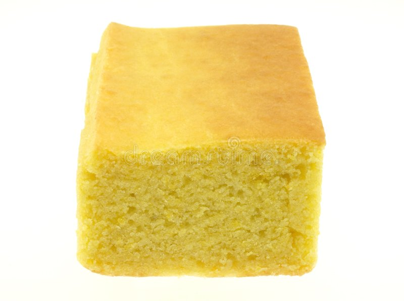 Cornbread. Yellow cornbread isloated on white back ground stock images