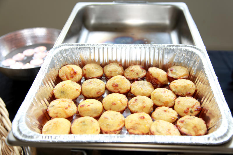Cornbread. Muffins out of the oven royalty free stock image