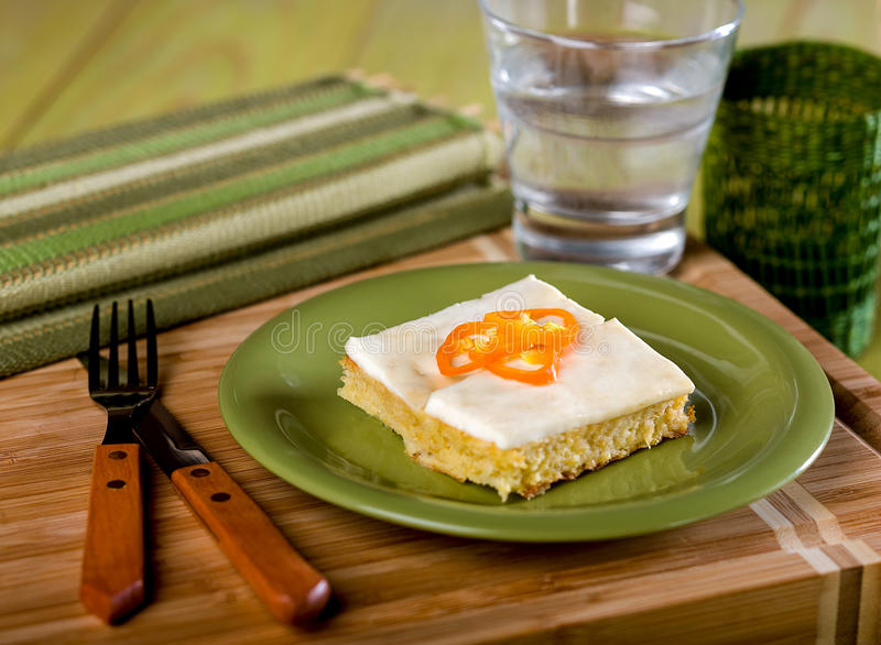 Cornbread, pastel de choclo, a typical Peruvian dish royalty free stock images