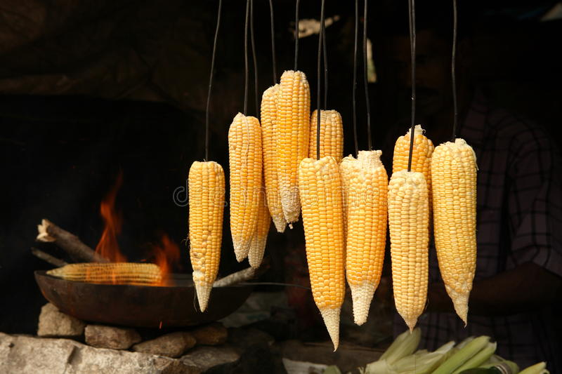 Download Corncobs stock photo. Image of barbecue, fire, display - 9754698