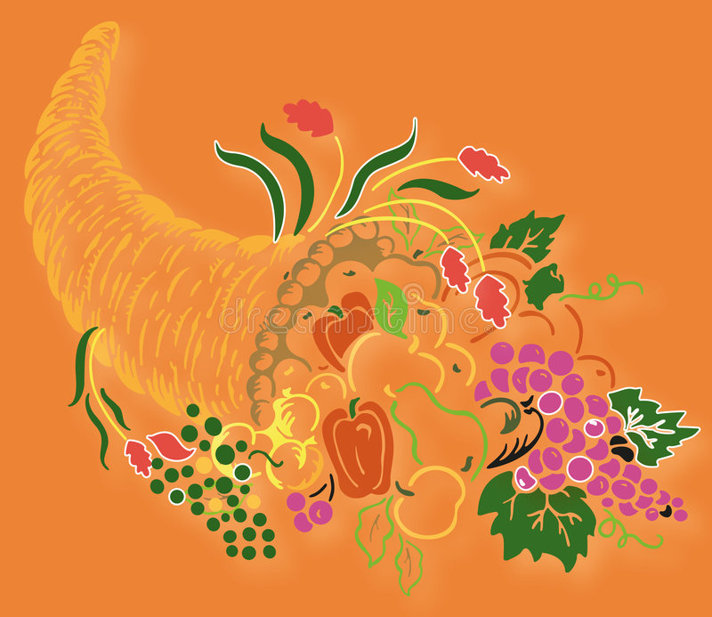 Corne d'abondance illustration stock