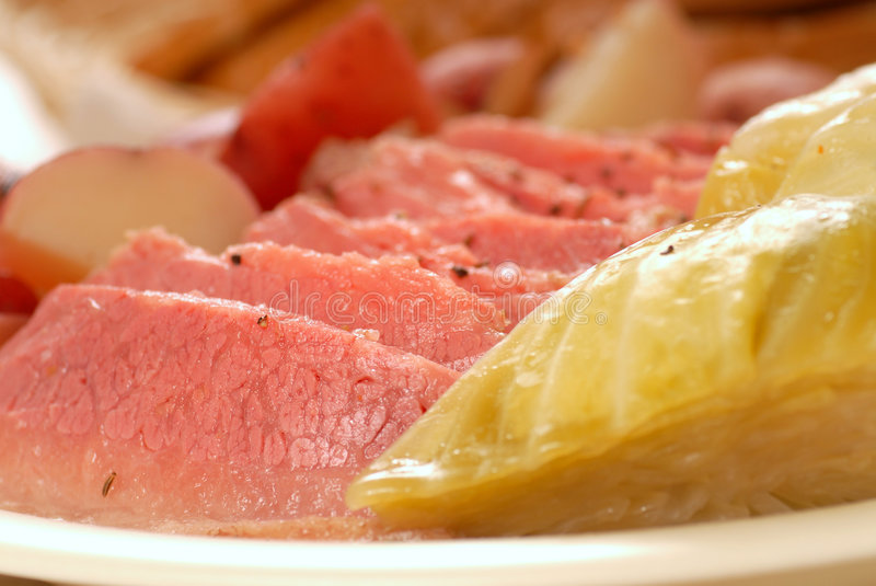 Corned Beef And Cabbage Dinner Royalty Free Stock Photo