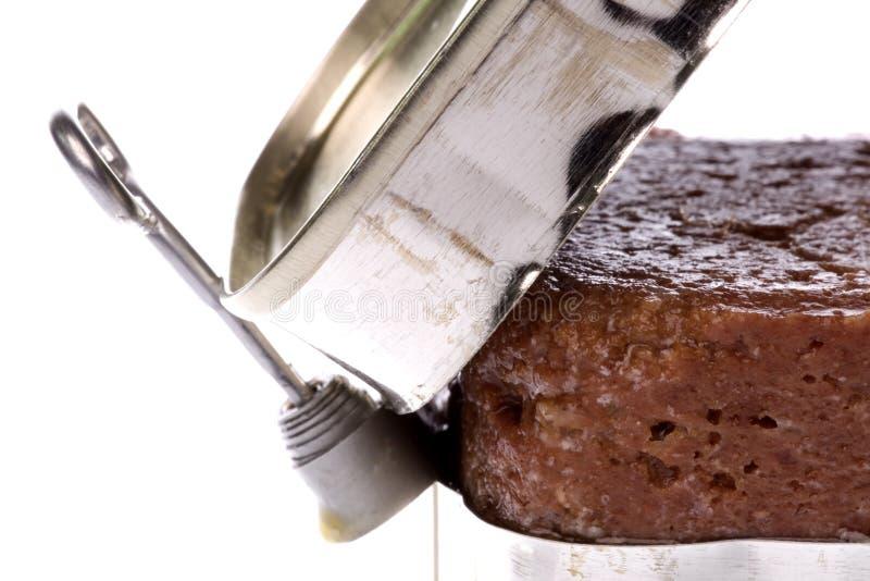 Corned beef isolato fotografia stock