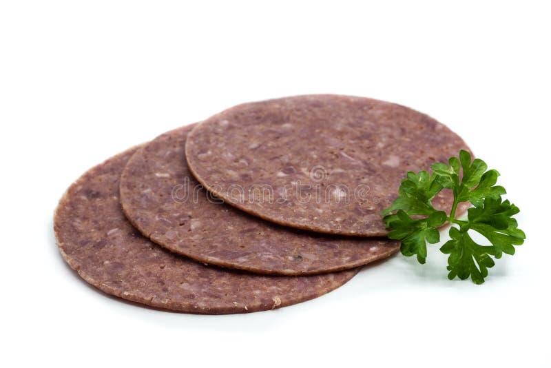 Corned-Beef lokalisiert auf wei?em Hintergrund stockfoto