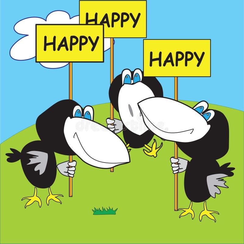 Download Corneilles heureuses illustration de vecteur. Illustration du carte - 8654596