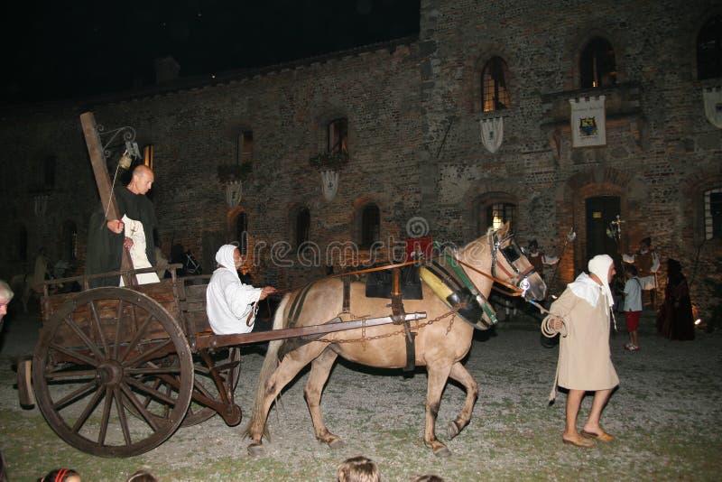 Corneliano - festival medieval fotografia de stock
