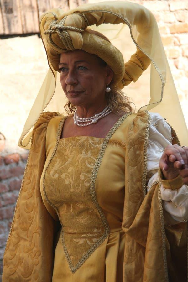 Corneliano - festival medieval fotografia de stock royalty free
