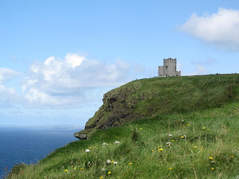 Cornelius O`Brien`s tower at the Cliffs of Moher in Ireland royalty free stock images