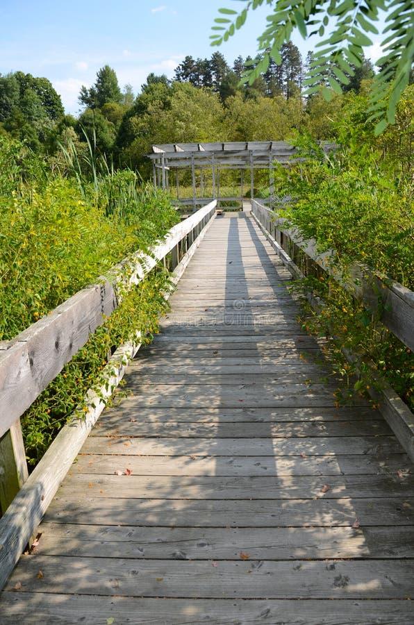 Cornell Botanic Gardens, promenade de Houston Pond photo libre de droits