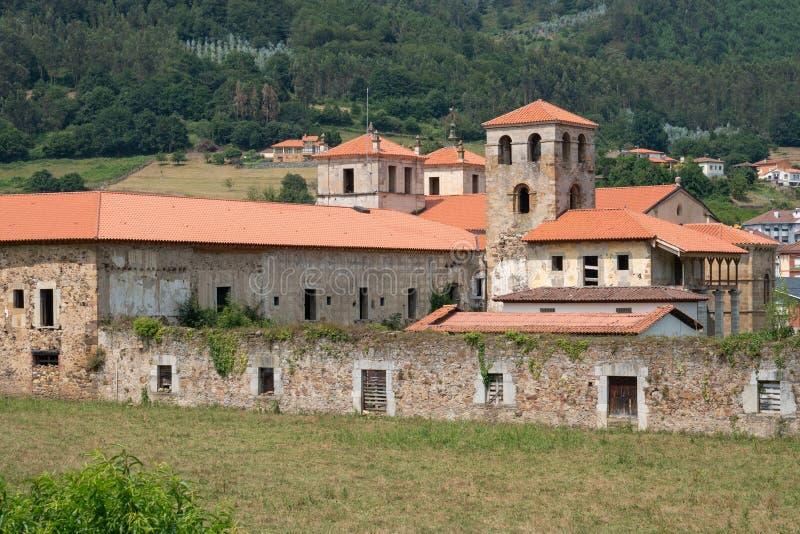 Cornellana, Camino de圣地亚哥,西班牙 免版税库存照片