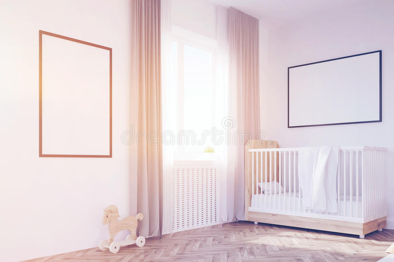 Download Corner Of Baby`s Room With A Crib, Toned Stock Illustration - Image: 83722652