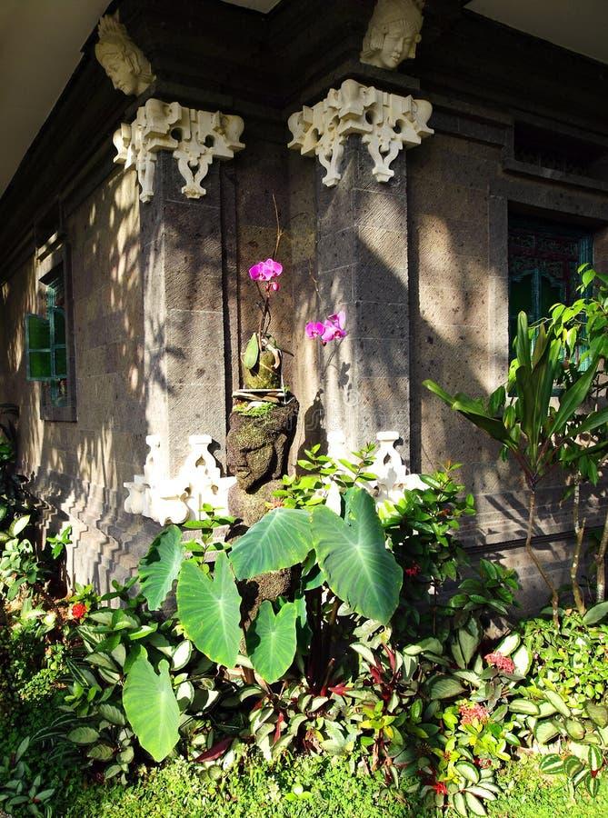 Corner of Balinese garden stock image