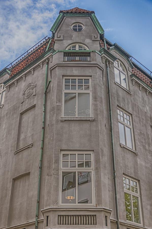 Corner Building Helsingborg 02. An ornate corner of an old building in the Swedish city of Helsingborg stock photos