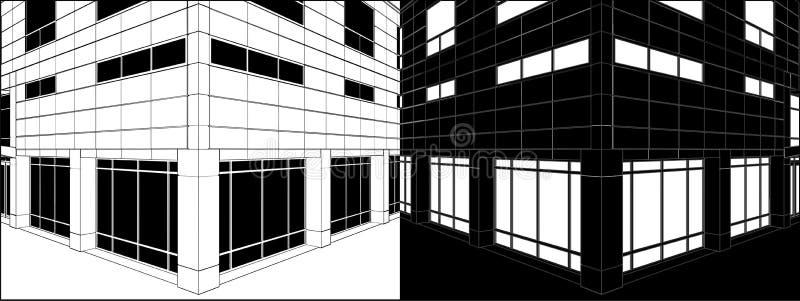 Corner Of Business Building Negative Vector 03 Stock Image