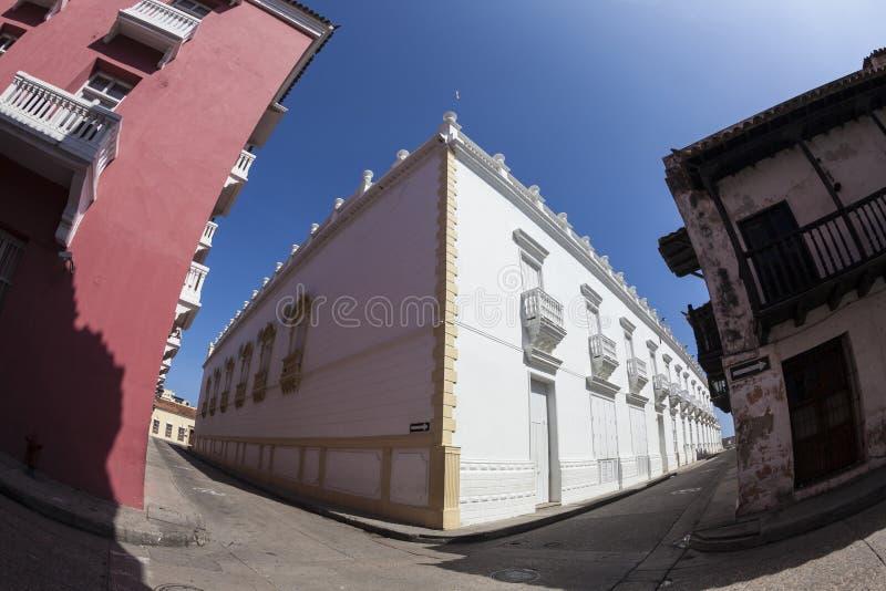 Corner of Cartagena de Indias stock images