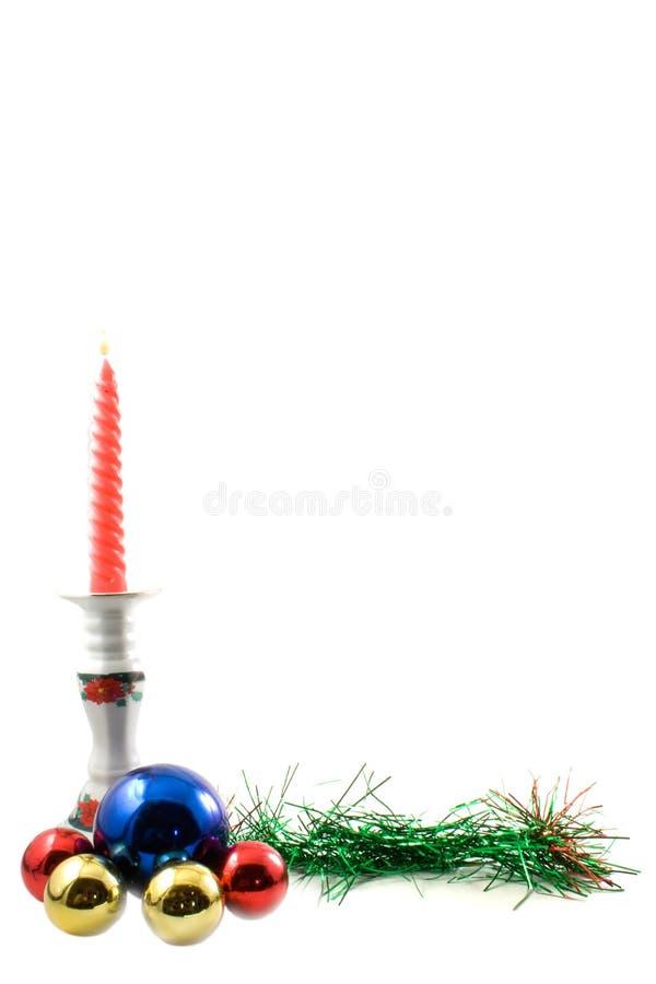 corner christmas Candle chandelier royalty free stock image