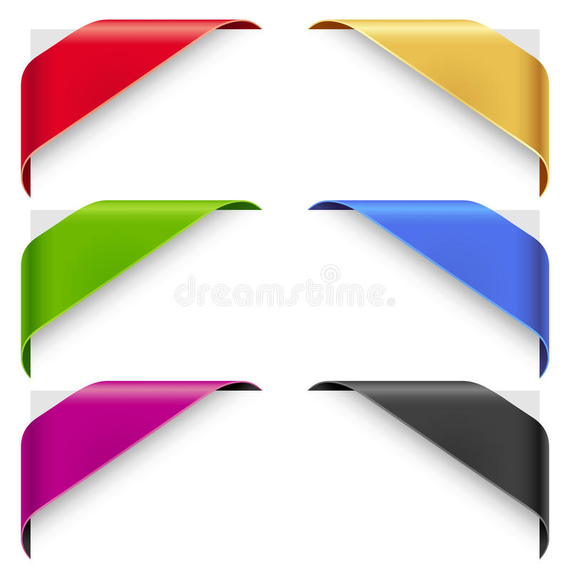 Download Corner Color Ribbons Vector Set Royalty Free Stock Photo - Image: 26014185