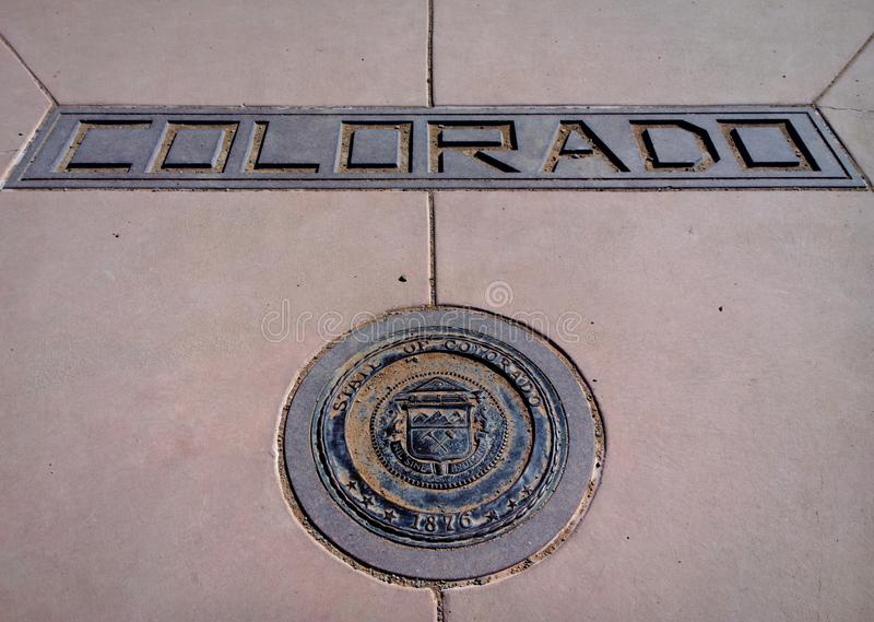 Download Corner of Colorado stock photo. Image of monument, sign - 108465610
