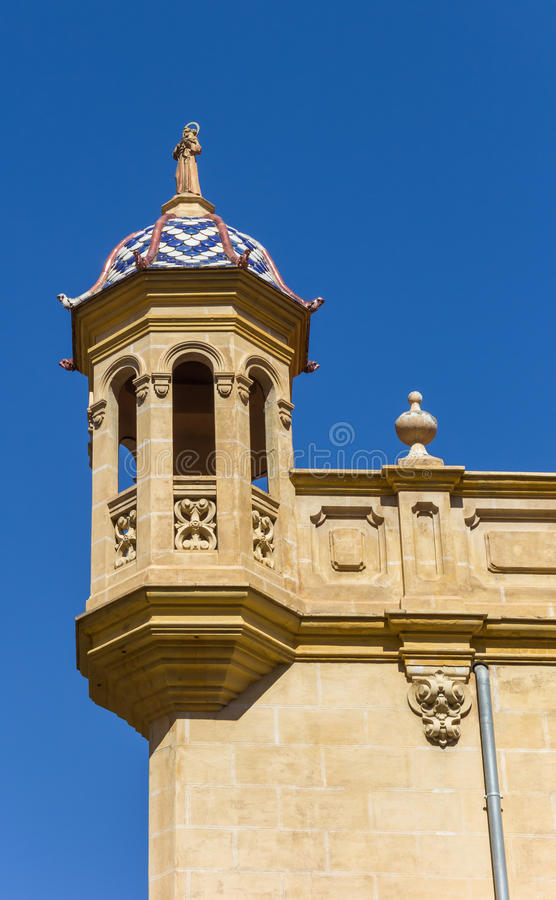 Corner detail of the Salvador and Santa Monica church in Valenci stock photo