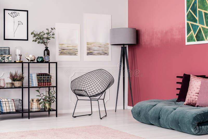 Corner of elegant interior stock image