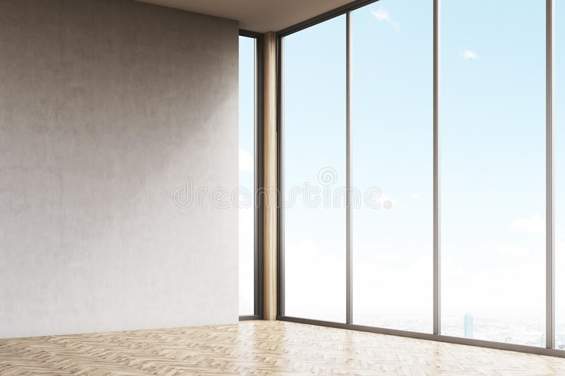 Download Corner Of Empty Room With Gray Walls Stock Illustration - Image: 83722843