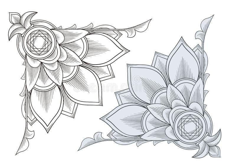 Corner Engraving for Certificates. Vector Illustration of Corner Engraving for Certificates vector illustration