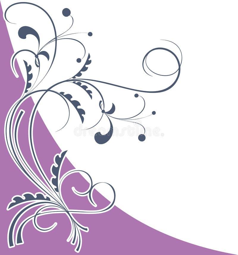 Corner floral pattern violet vector illustration
