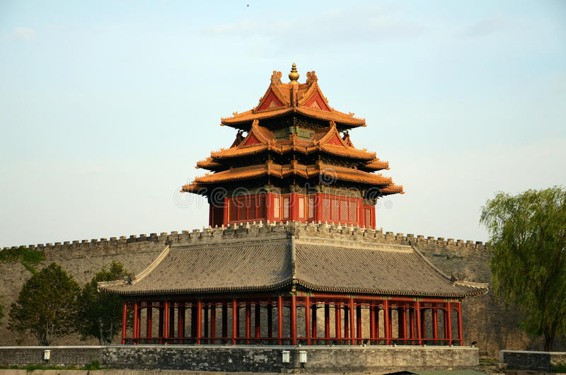 A corner of the forbidden city in Beijing, China stock images