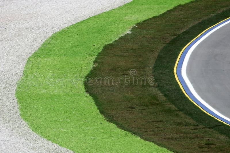 Corner of a Formula 1 race track