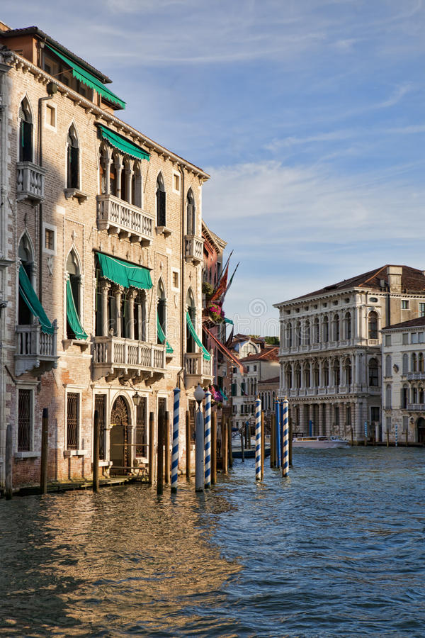The corner of Grand Canal in Venice