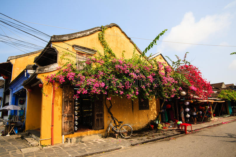 A corner in Hoi An Ancient Town, Quang Nam. Vietnam stock images