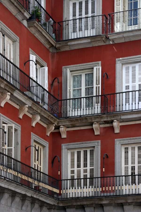 Download Corner house in madrid stock photo. Image of closed, mayor - 112856